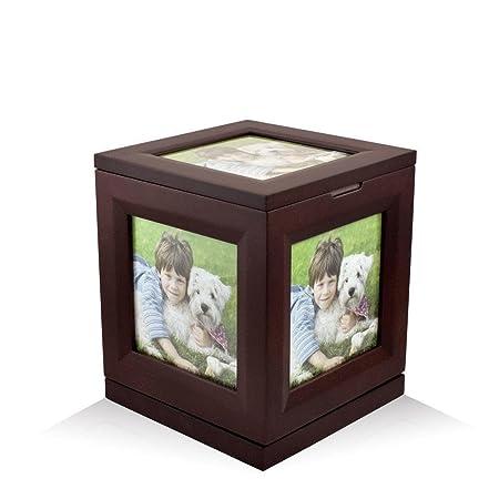 Perfect Memorials Medium Photo Cube Rotating Cremation Urn Up to 5 Photos