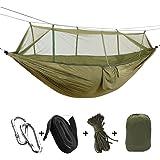 A-MORE Camping Hiking Hammock Mosquito Net Outdoor Nylon Fabric Lightweight Double Travel Beach Yard Backyard