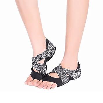 AiYoYo Calcetines antideslizantes para yoga, zapatos 2 en 1 ...