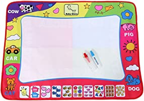 Water Drawing Mat Painting Writing Board Toy Doodle Board with 2 Magic Pens Kid Doodling and Learning Tool 80 * 60cm