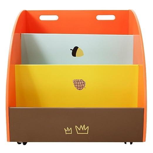 Labebe estantería para bebé naranja pino, 2 en 1, usar como ...