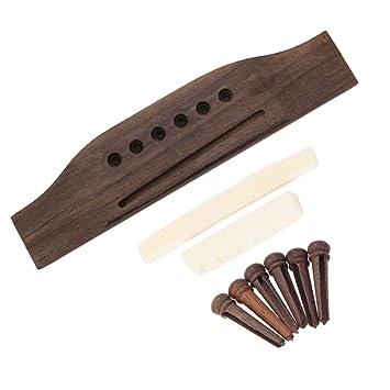 Palisander Gitarren Bridge /& Saddle Nut Set für Konzertgitarren Zubehör