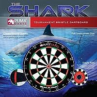 """Dartboard by Puma Darts - Full Size 18"""" x 1 1/2"""" Professional Shark Dartboard"""