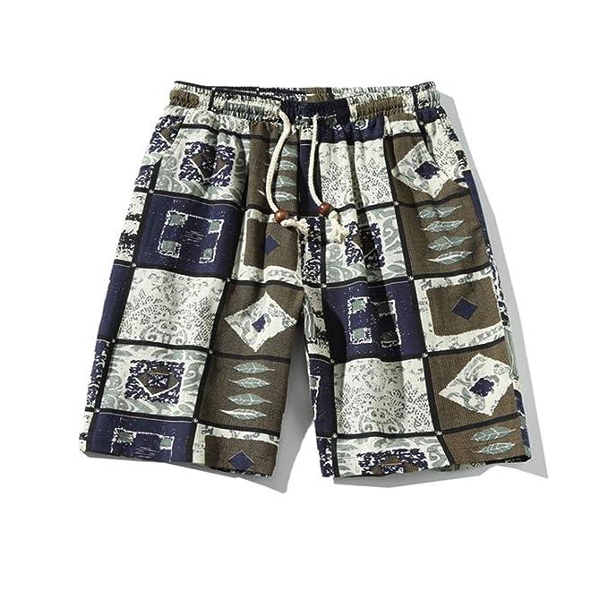 GIRLXV Pantalones Cortos De Playa Hombre Corto Traje De Baño ...