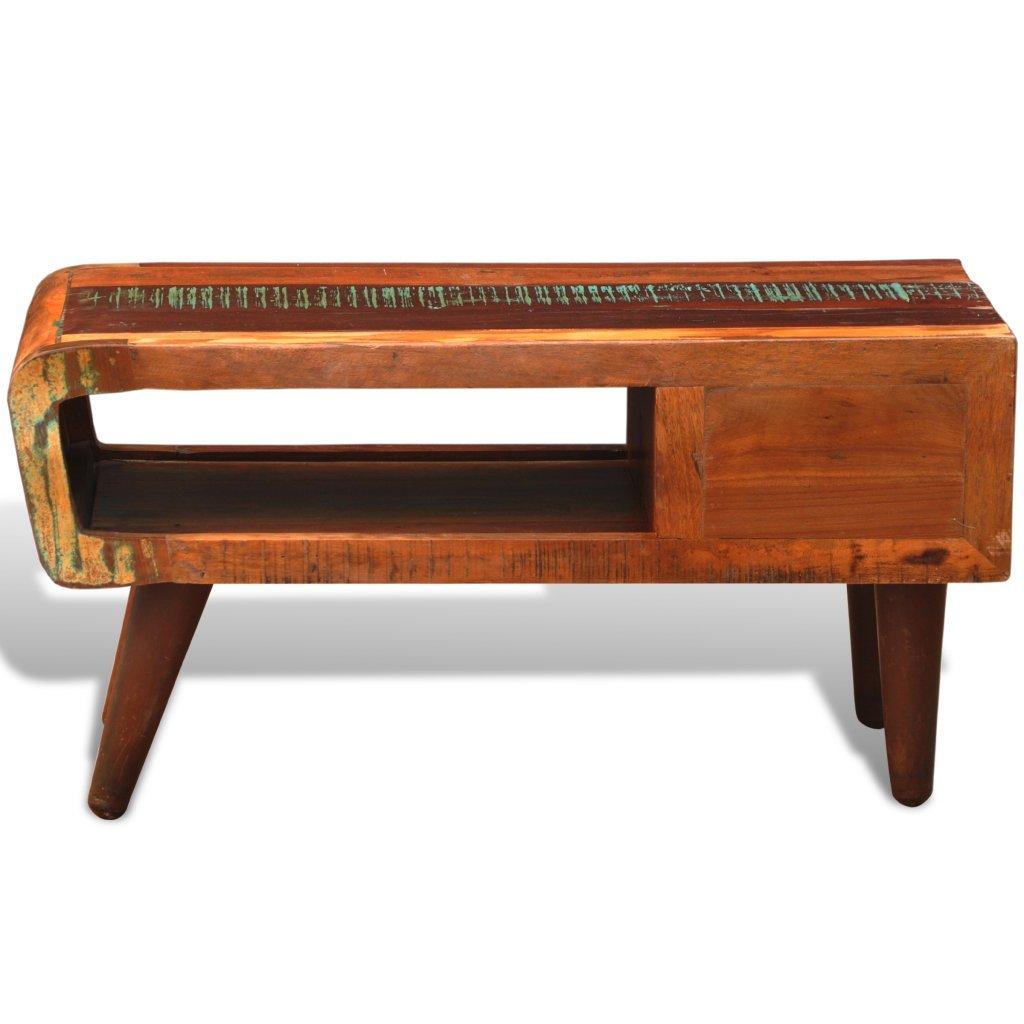 Vidaxl Reclaimed Home Furniture Vintage Wood Tea Table Coffee  # Meuble Hifi Vintage