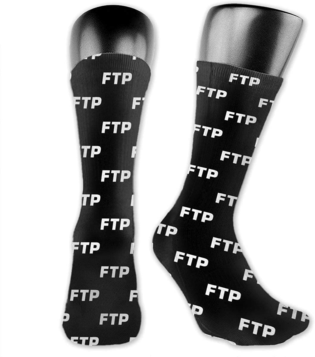 All Over Fuck The Population Ftp (All Enabled) Unisex Fun Novelty Mid-Calf Boot Socks Fashion Breathable Dress Crew Socks