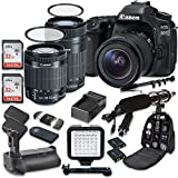 Canon EOS 80D Wi-Fi Full HD 1080P Digital SLR Camera with Canon EF-S 18-55mm f/3.5-5.6 IS STM Lens + Canon EF-S 55-250mm f/4-5.6 IS STM Lens