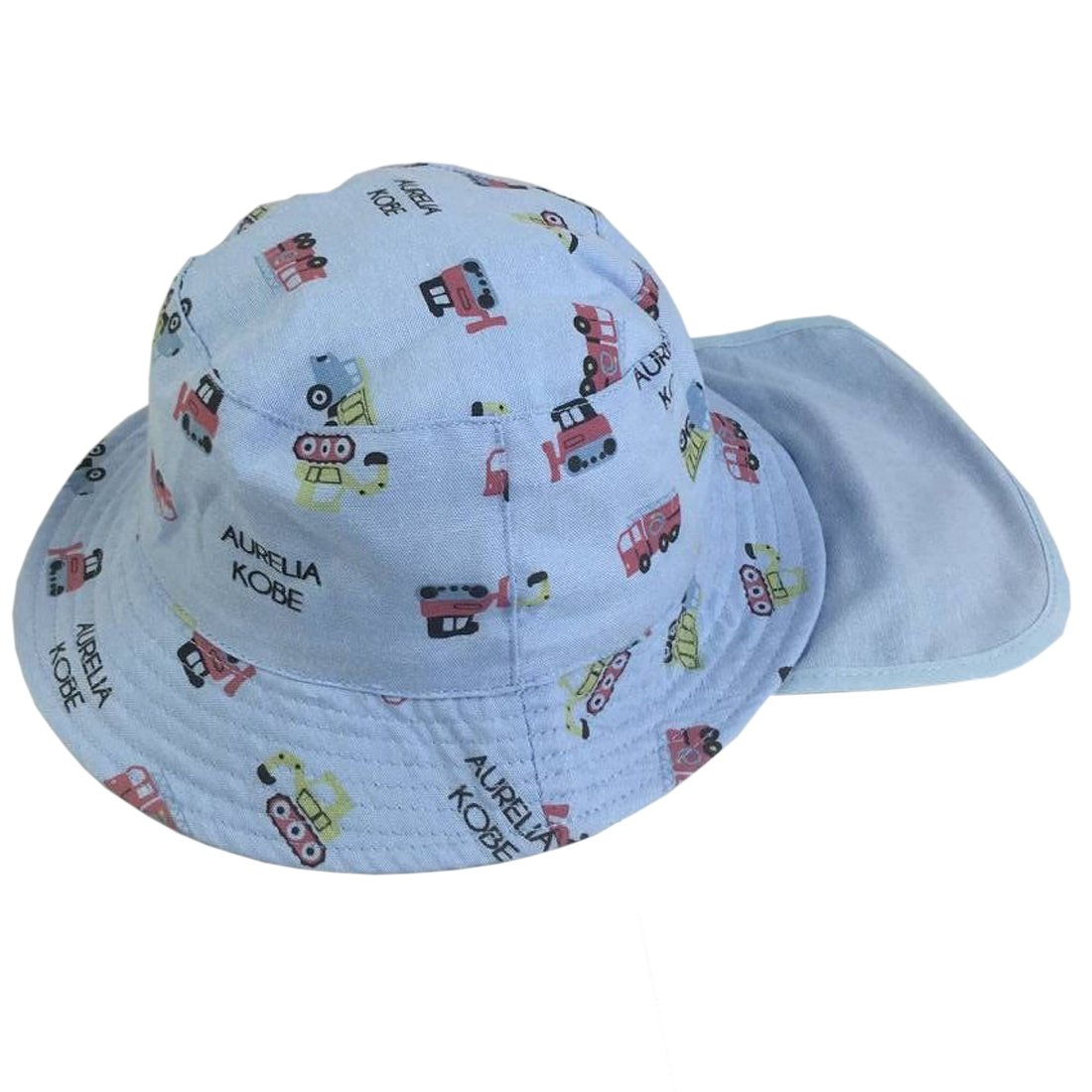 YueLian Girls Boys Sun Protection Cartoon Summer Baby Bucket Fishing Hats