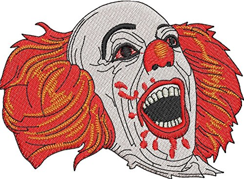 Clown Patch Iron on Applique sew on (Small, White Teeth)