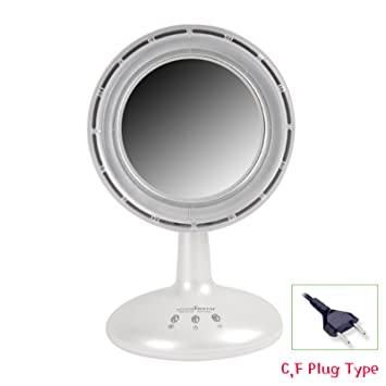Amazon.com: IMirror - Makeup Mirror with LED Light and Fan (White ...