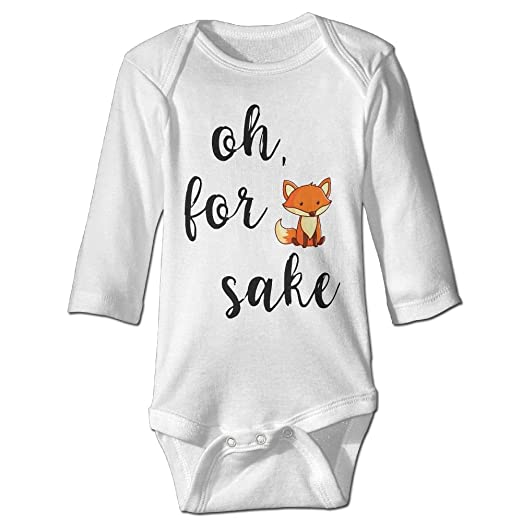3d7798d02 Amazon.com  DX PPF Oh For Fox Sake Funny Baby Girl Boys Long Sleeve ...