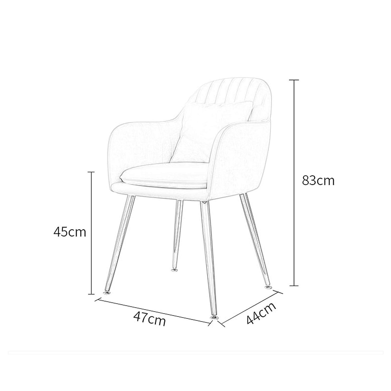 AFEO Makeuppall järn matstol affärsförhandlingsstol kaffestol bänkstol läsning lärande stol ryggstöd fåtölj dator soffa stol omklädningsrum stol Green_golden