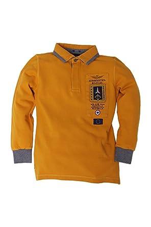 Aeronautica Militare - Polo - para niño amarillo oscuro 24 meses ...