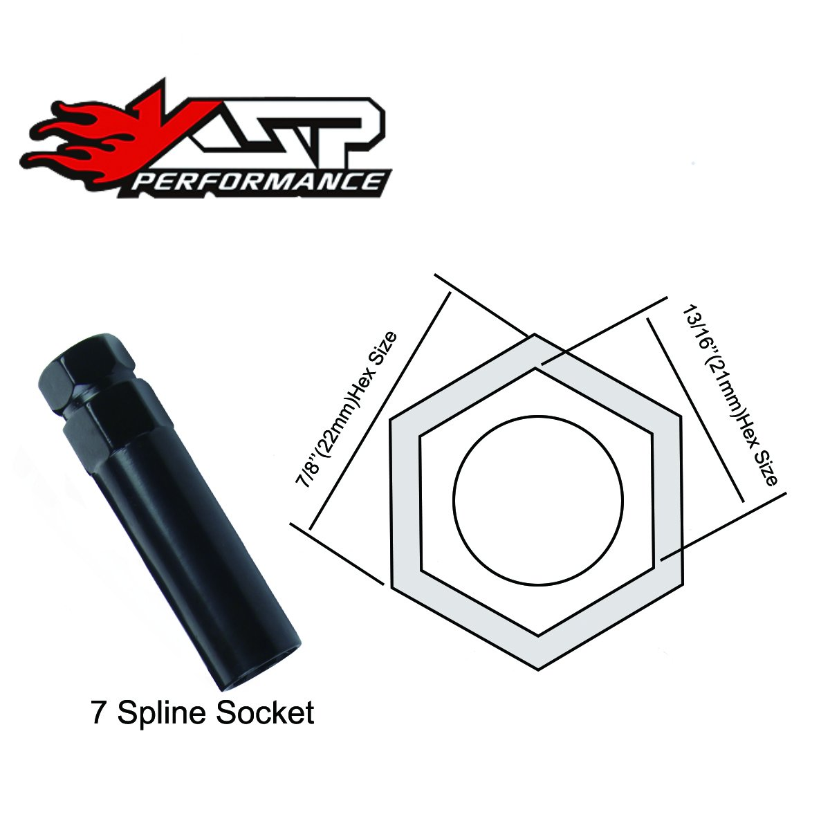KSP Performance 24PC KSP 14mmx1.5(M14x1.5 thread pitch),60 Degree Conical Cone Seat Wheel Lug Nuts,Closed End 7 Spilne With 2 Keys For Chevy GMC Silverado Sierra Hummer With 6 Lugs Trucks by KSP Performance (Image #5)