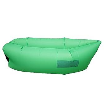 Nalati inflable sofá-cama, Outdoor hinchable Lounger, Nylon ...
