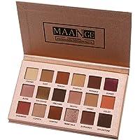 MagiDeal 18 Colors Glitter Shimmer Eyeshadow Palette High Pigment Eye Shadow Charming Smokey Eye Makeup