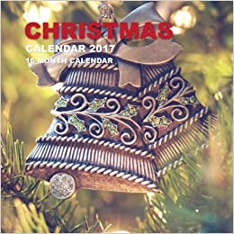 Book Christmas Calendar 2017: 16 Month Calendar