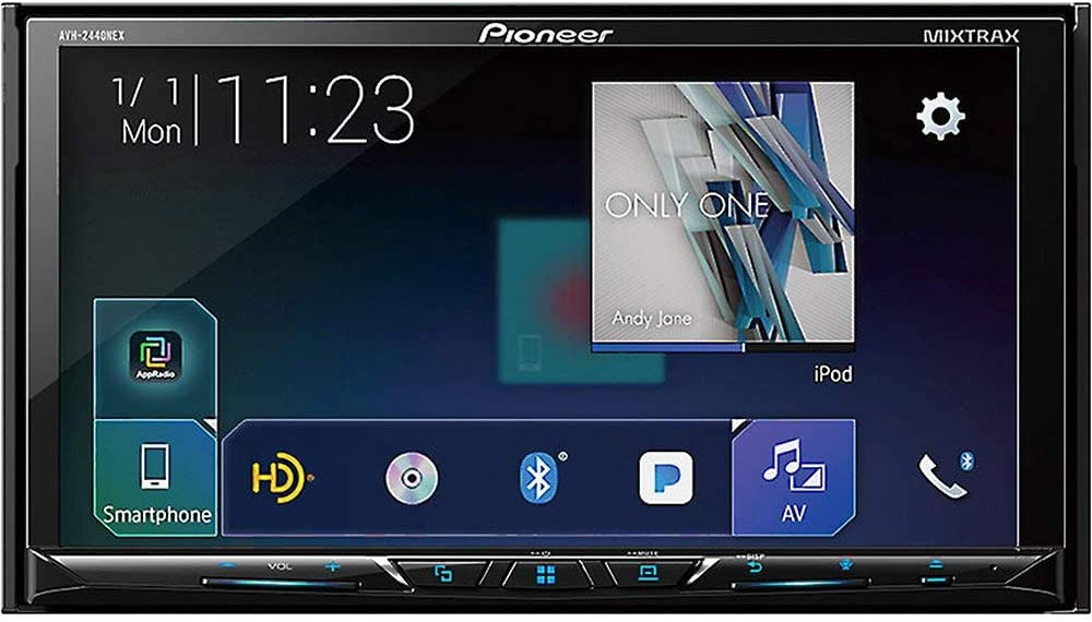 Android Auto and Bluetooth Renewed Pioneer AVH-2440NEX Car Stereo Double Din Radio Car Play Compatible with Apple
