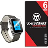[6-Pack] Spectre Shield Screen Protector for Pebble Time Steel Case Friendly Pebble Time Steel Screen Protector Accessory TPU