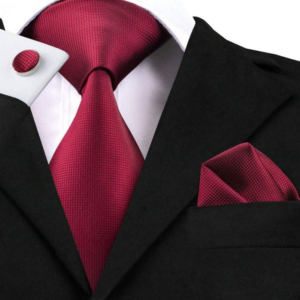 MU Ocio Hombres S Tie Sn-296 Formal Rojo oscuro Sólido Corbata ...