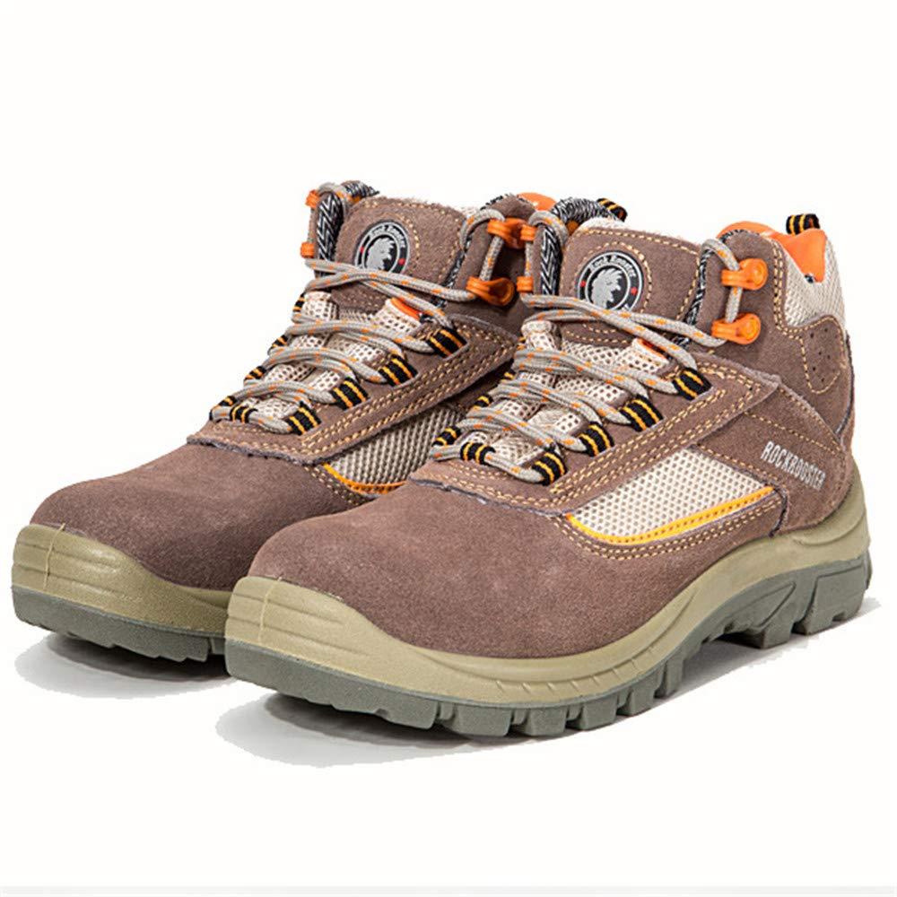 ZHRUI Sicherheits-Schuhe der Männer große Wasserdichte antistatische Piercing Stahlmittelsohle-Schuhe (Farbe   Braun, Größe   EU 45)  | Neu