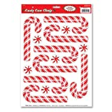 Kitchen & Housewares : Beistle Candy Cane Clings, 12-Inch by 17-Inch Sheet