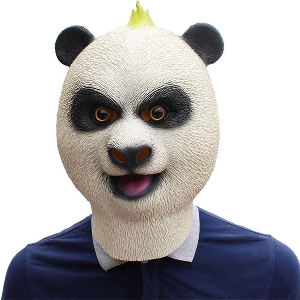 QNFNB Panda Gigante Mascara Halloween Horror Protección del Medio Ambiente Material de Látex