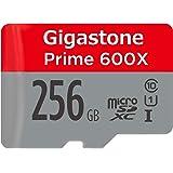 Gigastone Micro SD Card 256GB マイクロSDカード 256 GB UHS-I U1 Class 10 MicroSDXC SDXC Memory Card with MicroSD SD Adapter High Speed Full HD Video Nintendo Dashcam GoPro Camera Samsung Canon Nikon DJI Drone