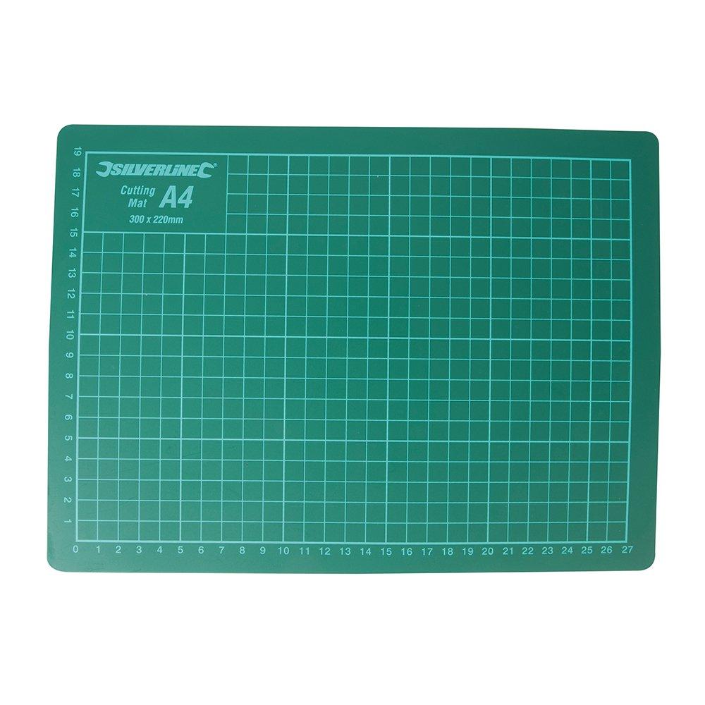 Silverline Schneidematte, 1 Stü ck, green, 438935