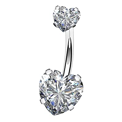 """Black Round Faceted CZ Bling Navel Belly Ring 14g 7//16/""""  316L"""
