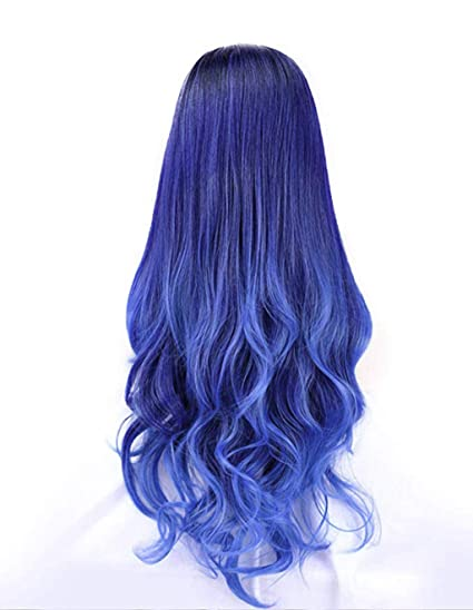 Amazon Com Chenway Long Curly Hair In The Dyed Gradient Wig