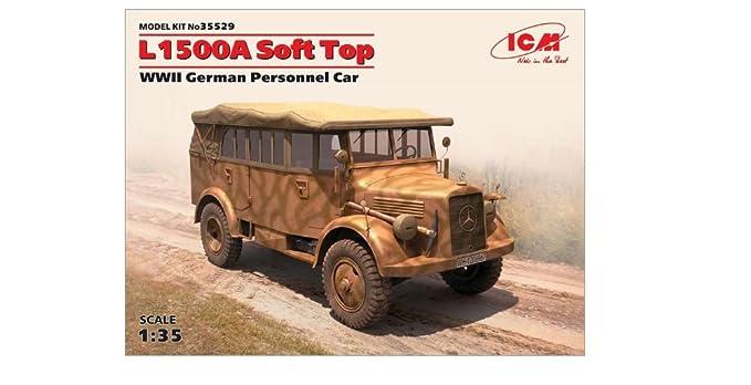 0428b72f193fc5 Amazon.com  ICM Models World War II German Personnel Car Model Kit ...