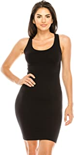 product image for Kurve Racerback Stretchy Comfort Mini Sexy Slim Tank Dress, UV Protective Fabric UPF 50+ (Made with Love in The USA)