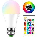 ONEVER 10W RGBW Cambiare colore del LED E27 Atmosfera di illuminazione a LED in modalit¡§ Fade Lampada Flash Strobe Bar KTV luci decorative RGB + bianco freddo (1PCS)