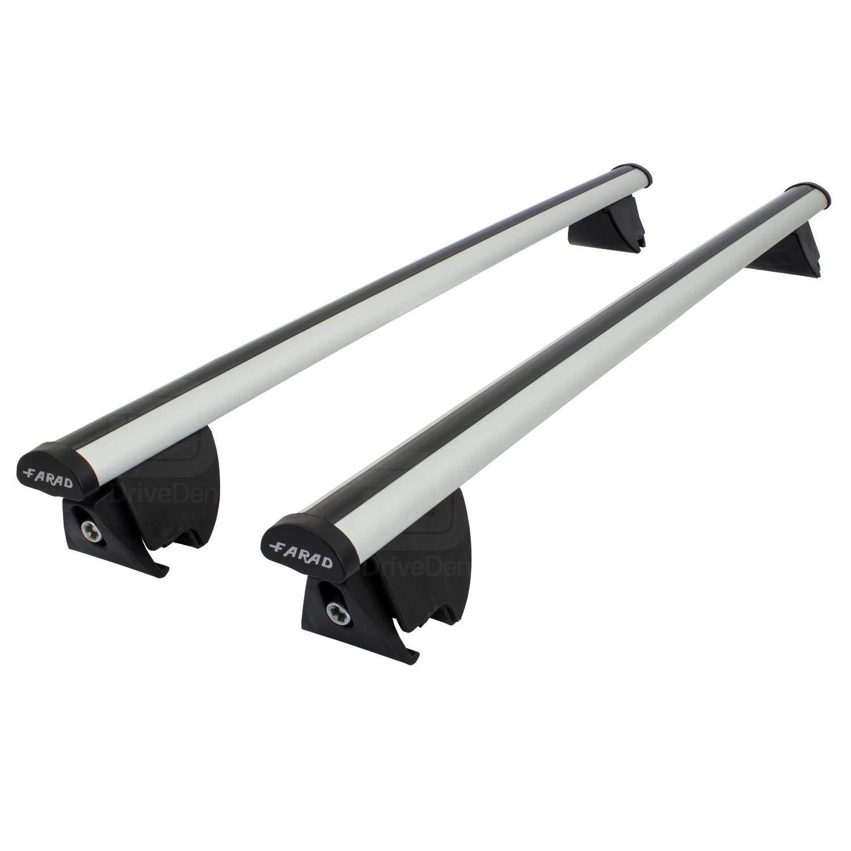 Closed Roof Rails Farad FA-PRE-177 Aero Aluminium Silver Roof Bar Set