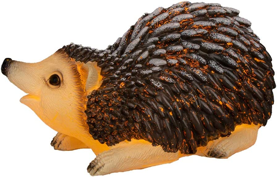 EAMBRITE Handmade Real Wax Hedgehog Candle Battery Operated LED Flameless Candle with Timer Decor for Home Christmas Holiday Wedding Children's Room