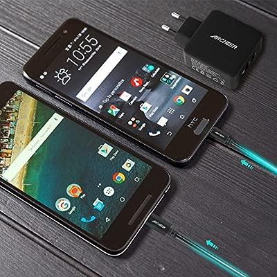 Archeer Cargador de Pared USB, Carga Rapida 3.0, para Samsung Galaxy S6, LG G5, HTC UNO A9, Droid 2 Turbo Microsoft Lumia 950 XL