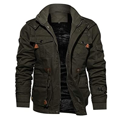 94e5cf797 Winter Coat for Mens Big and Tall, Warm Cashmere Thicken Pockets ...