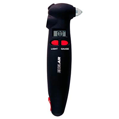 EXELAIR by Milton (EX999004) 4-in-1 Digital Tire Gauge Auto Emergency Tool: Automotive