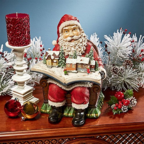 (Christmas Decorations - Santa Claus Coming to Town Winter Wonderland Holiday Book Statue)