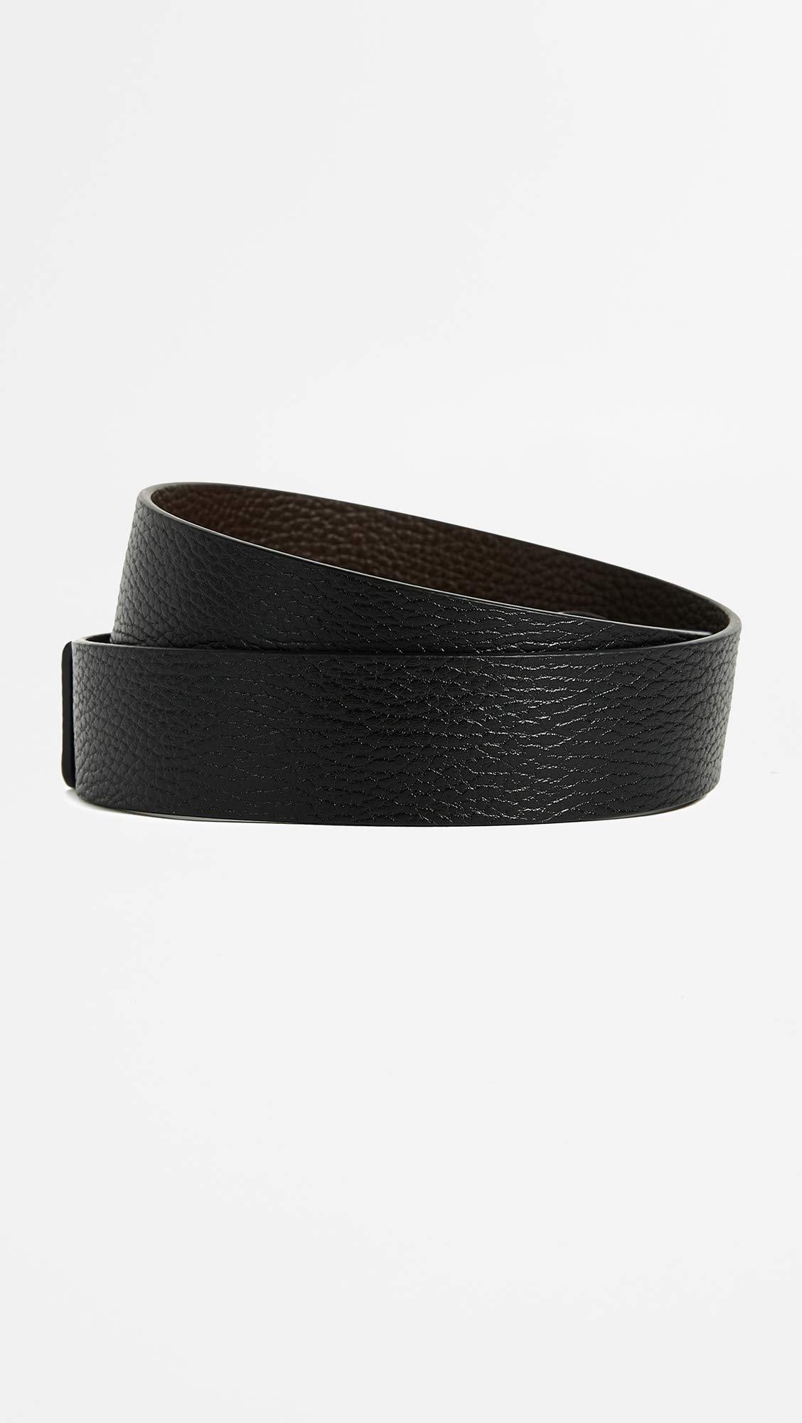 Salvatore Ferragamo Men's Reversible/Adjustable Belt-678783, Nero/Hickory 36 by Salvatore Ferragamo (Image #5)