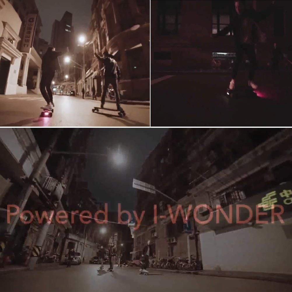 I-WONDER Skateboard Headlights and Taillights, USB Rechargeable Safe Lights, Waterproof LED Flashing Safety Rear Light, Easy to Install for Electric Longboard/Bikes/Helmets by I-WONDER (Image #9)