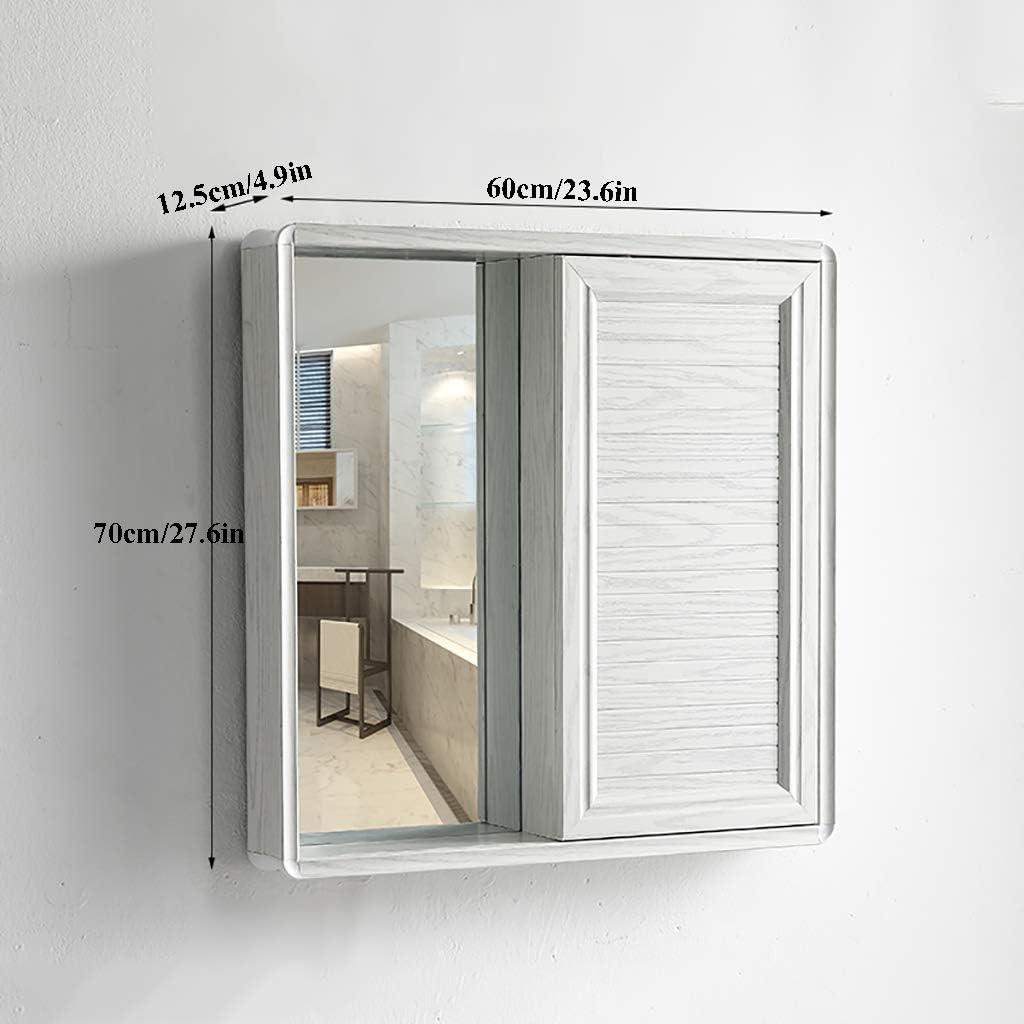 NJ Simple Armario Espejo Baño Altura De La Puerta Corredera: 70 Cm / 27,6 Pulgadas Armario con Espejo De Baño Suspendido Diseño Que Ahorra Espacio Mueble Espejo De Baño: Amazon.es: Hogar