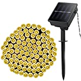 Product Name: LELLEL 3rd Genneration Solar String Lights Product Specification • Light Color: Warm White • LED Quantity: 100 LED • Modes: 8 modes • Lights Length: 49ft (10m) • Lead Length: 6.56ft (2m) • Total Length:55.56ft (12m) • LED Space:...
