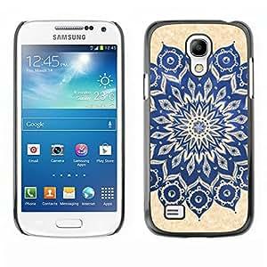 Caucho caso de Shell duro de la cubierta de accesorios de protección BY RAYDREAMMM - Samsung Galaxy S4 Mini i9190 MINI VERSION! - Yoga Zen Peace Floral Pattern