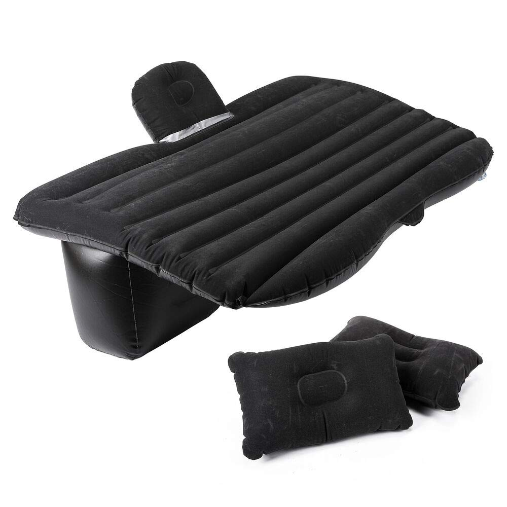 xyz-home 57'' Inflatable Mattress Air Cushion Car Backseat Bed with Pump 2 Pillows idu G42438 by xyz-home (Image #1)