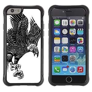 Hybrid Anti-Shock Defend Case for Apple iPhone 6 4.7 Inch / Beautiful Eagle Pattern Art WANGJING JINDA