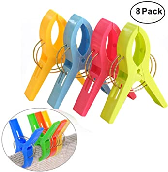 4Pcs  Household Towel Pegs Clips Hanging Drying Clothes Clip Bed Sheets Clips