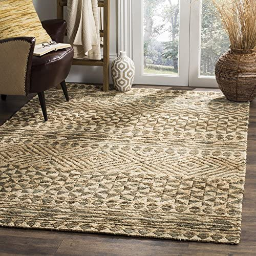 Safavieh Organica Collection ORG703A Hand-Woven Jute Area Rug, 8 x 10 , Slate Natural
