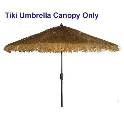 Good Bayside 21 Tiki Umbrella Thatch Patio Umbrella Canopy Replacement For 9u0027 8  Ribs Patio